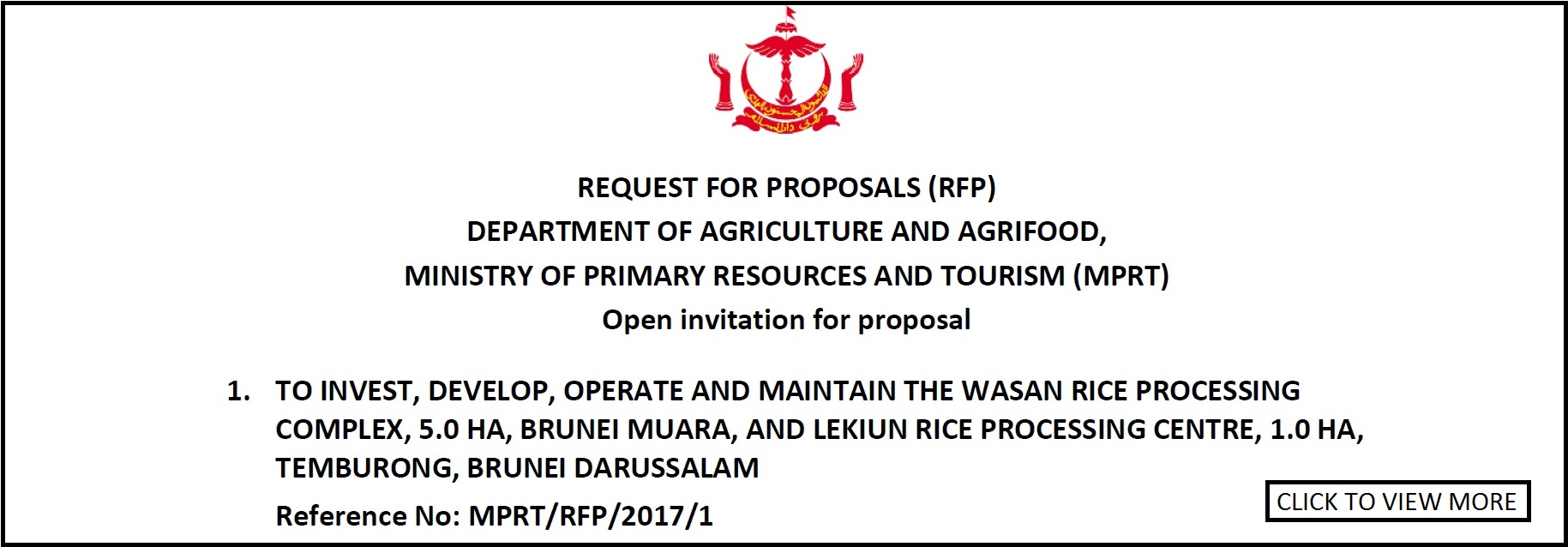Tender and Requests For Proposal - Tender and Requests For