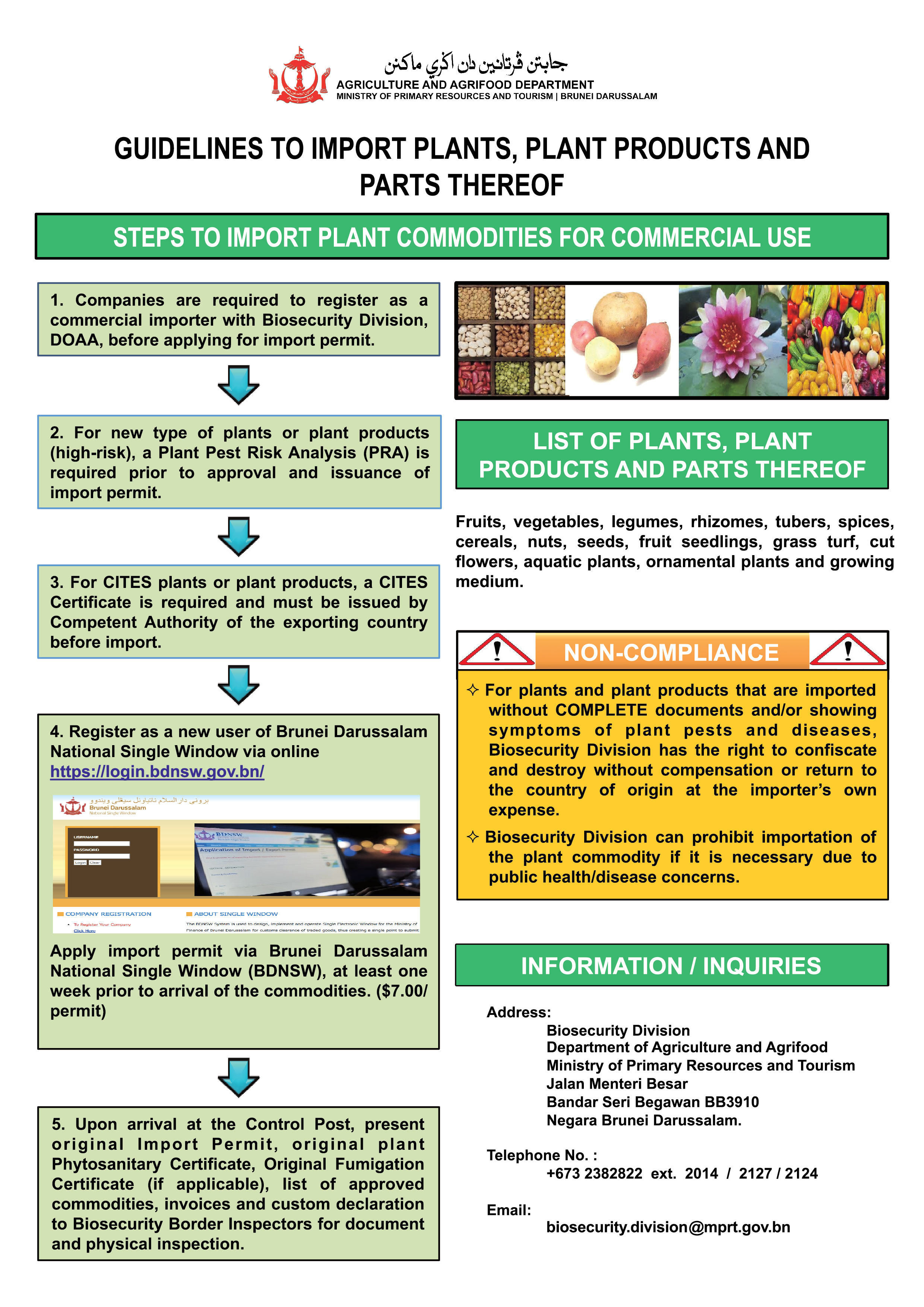 Agriculture and Agrifood Department - IMPORTATION OF AGROCHEMICALS